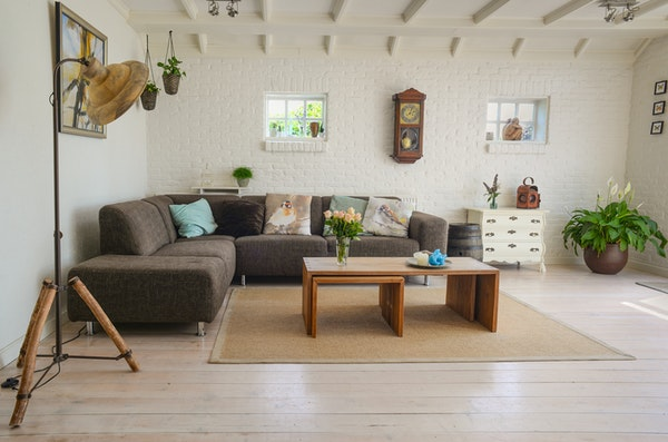 The French living room has stylish furnishing