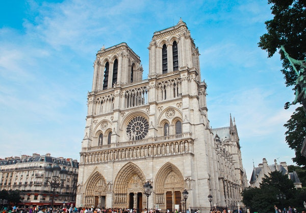 The Notre Dame is a French cultural sight
