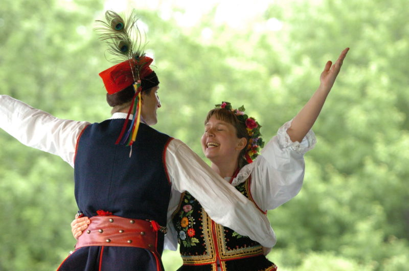 Speaking Polish is not as hard to learn as traditional Polish dancing.