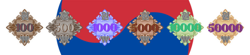 korean won 100 - 5000