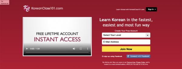 korean class 101 language program