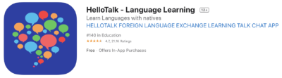 hellotalk is a great korean app to learn with