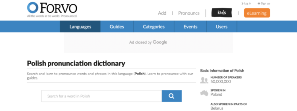 Forvo is a great online resource for Polish pronunciation