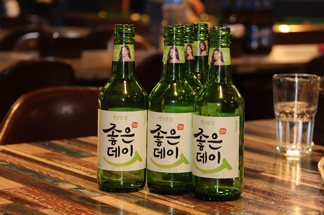 Soju is a traditional drink at seoul nightlife