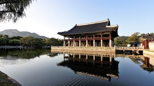gyeongbok palace is a beautiful tourist attraction in south korea