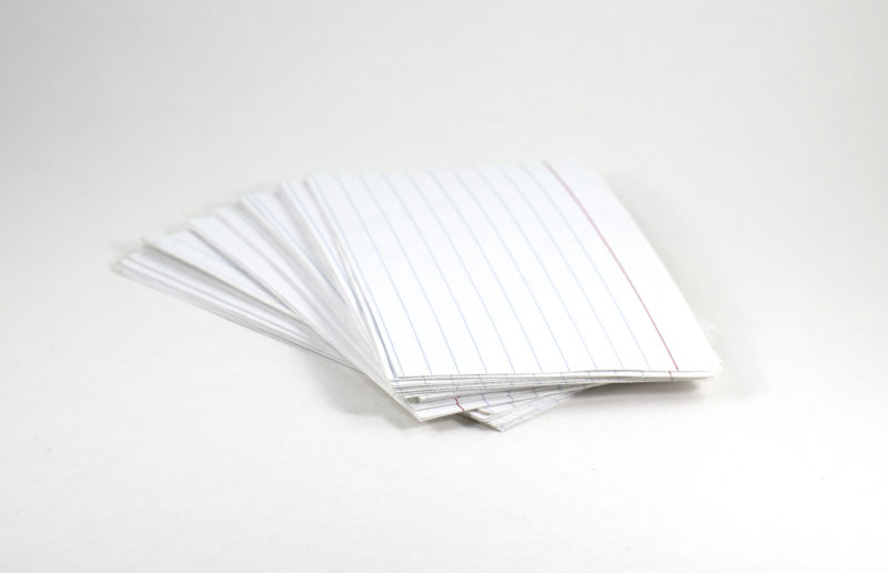 old school flash cards to help remember language learning lessons