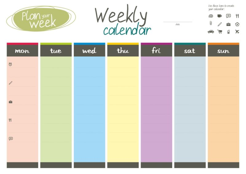 one of the best ways to learn korean is to set up a weekly schedule and pick a time for you to study using this weekly calendar
