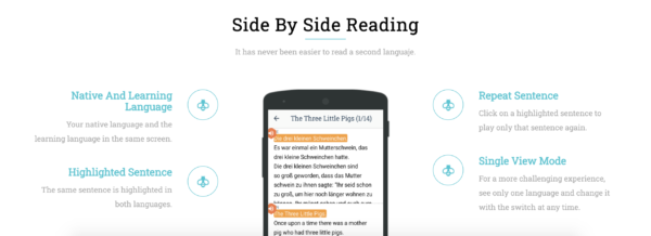 Beelinguapp can help you read bilingual Korean for reading practice
