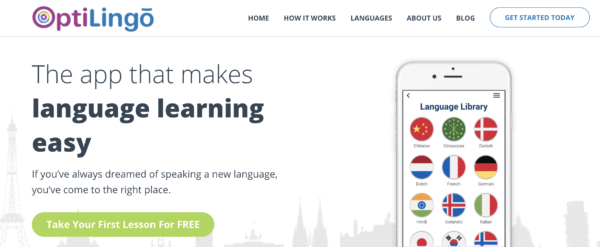 OptiLingo is the best language learning app for Korean reading practice