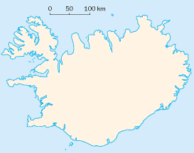 Map of Iceland, where Icelandic is the official language