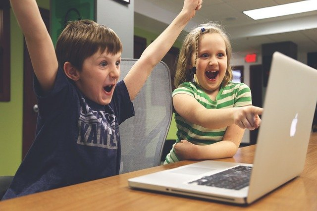children,win,success,video game,play,happy,notebooks,creative,computer,company,laptops,display,modern,