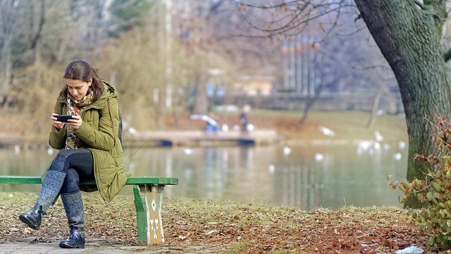 Girl, Woman, Young, Person, Seated, Bank, Park, Nature